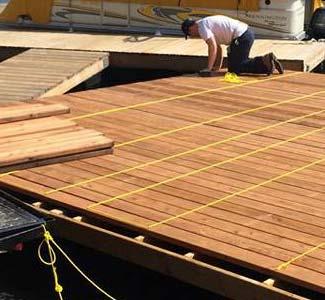 dock pressure treated lumber composite